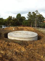 White Circle Concrete Water Tanks